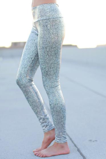 Silver Goddess Yoga Leggings