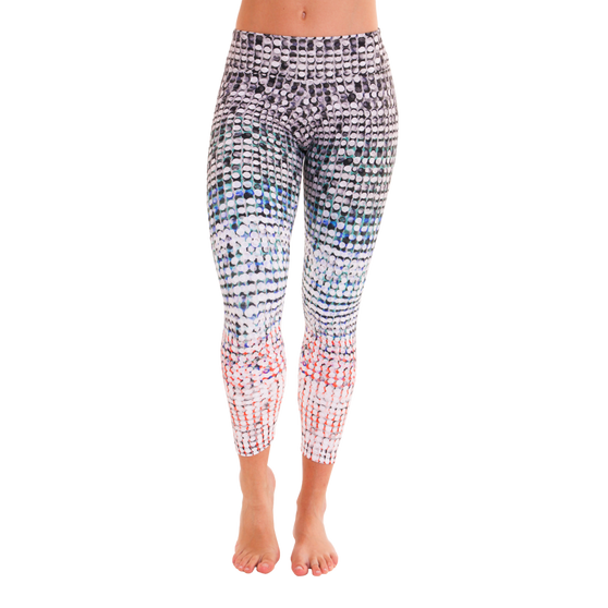 7/8 Patterned Leggings - Paillette