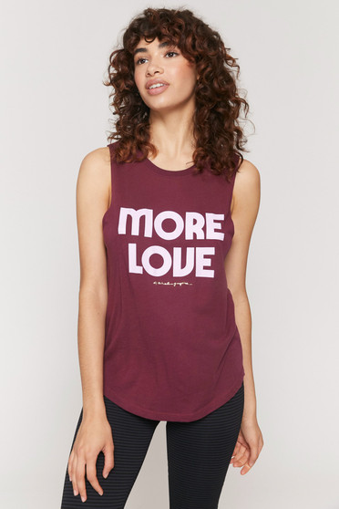 More Love Muscle Tank - Wildberry
