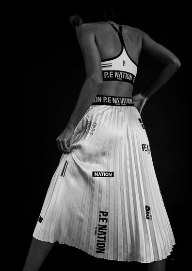 Refresh Skirt - White Pleated
