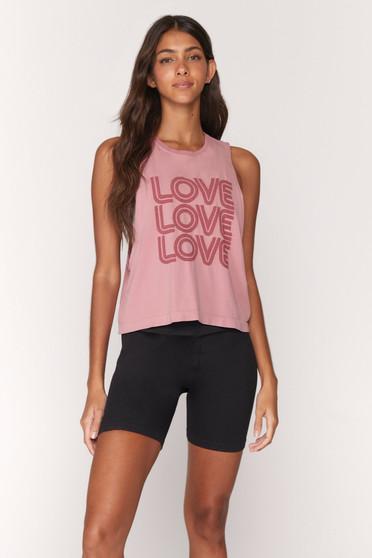 Love Active Flow Top - Rose