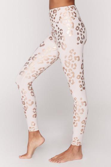 Essential High Waist Leggings - Lux Cheetah Print
