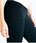 Quilted Pocket Tights - Black