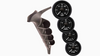 ISSPRO EV2 - 4 - Gauge Kit for 1994-1997 Ford 7.3L Powerstroke with, Pyro, Boost, Trans Temp, and Pressure Gauge, Black dial, Black bezel, White pointer