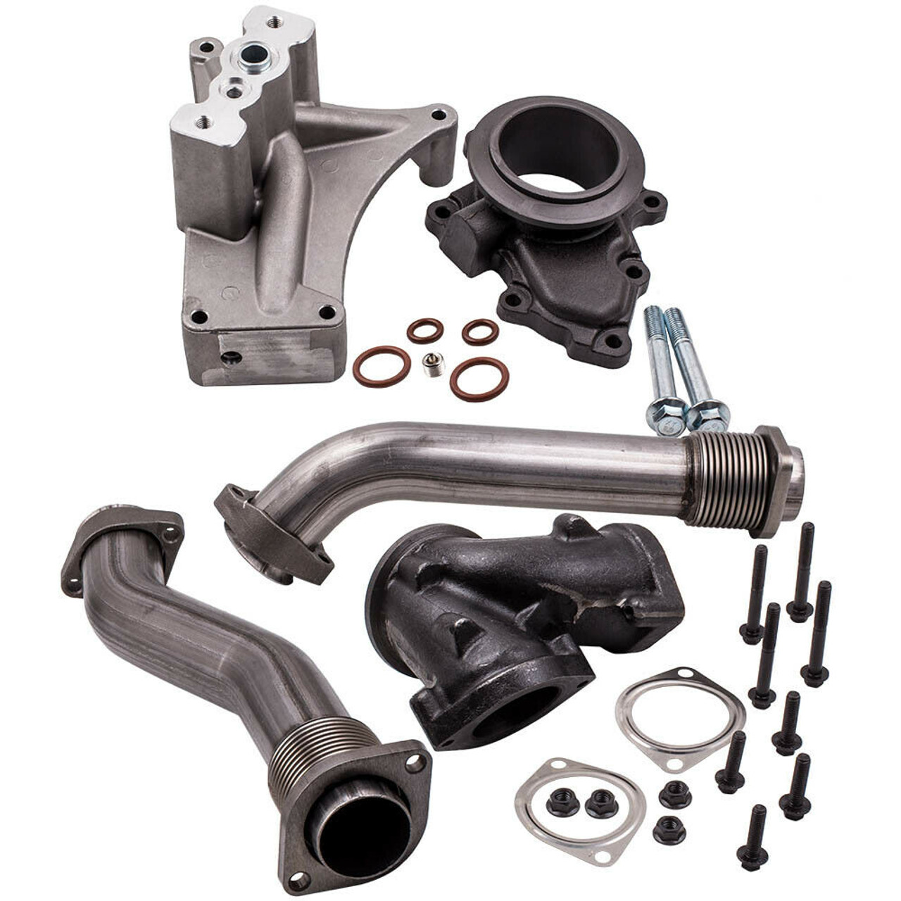 Up Pipes Housing Turbo Pedestal Kit Fit 99.5-03 Ford 7.3L Powerstroke Diesel