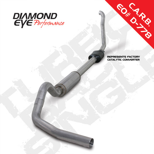 "Diamond Eye, 1994-1997.5 7.3L F250 & F350 Turbo back single 5"" Kit  # K5314A"