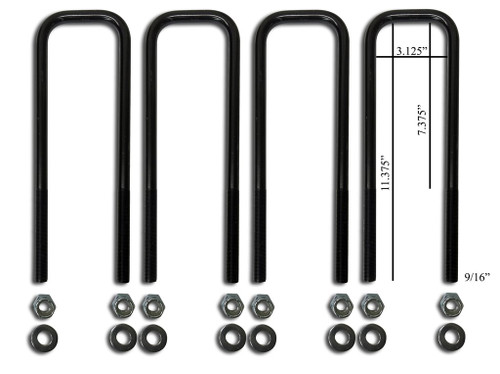 Sky Manufacturing, Ford Front U-Bolt Replacement Kit - FORD-FRUB