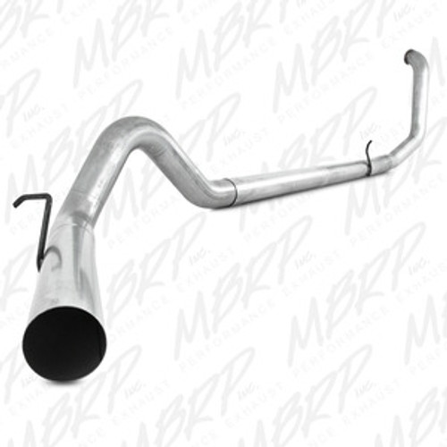 "MBRP 4"" Turbo Back, Single Side - no muffler, 1998-2003 Ford Powerstroke 7.3L, S6200PLM, FREE SHIPPING"