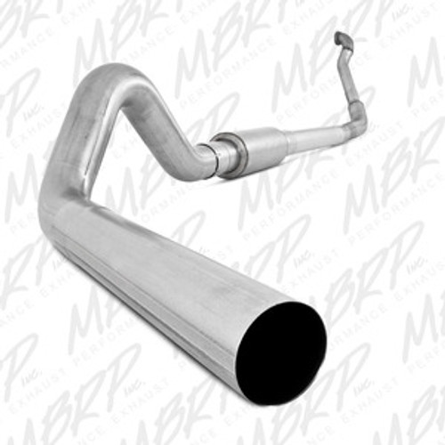 MBRP Turbo Back, Single Side Off-Road (Aluminized downpipe), 1994-1997 Ford Powerstroke 7.3L, S6218P