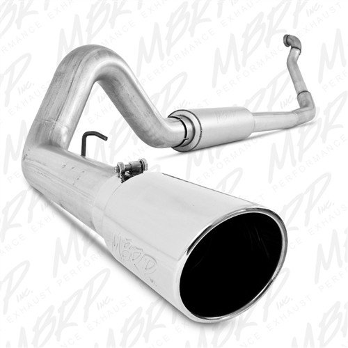 MBRP, Turbo Back, Single Side Exit, Off-Road (Aluminized downpipe), 1994-1997 Ford Powerstroke 7.3L,  S6218AL