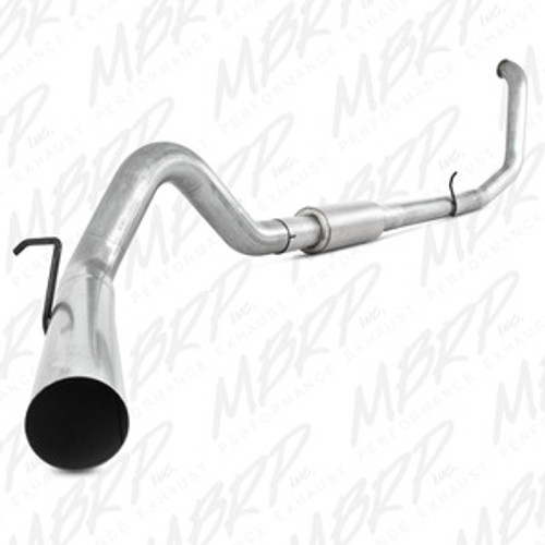 "MBRP 4"" Turbo Back, Single Side, 1998-2003 Ford Powerstroke 7.3L, S6200P, FREE SHIPPING"