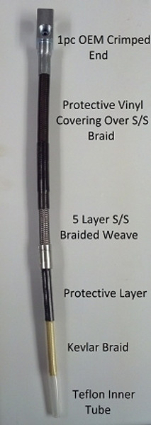 Ford S/S Braided Brake Lines, 1980-1997 Ford F250-F350, (PMF-SBK-FRD-80SD)