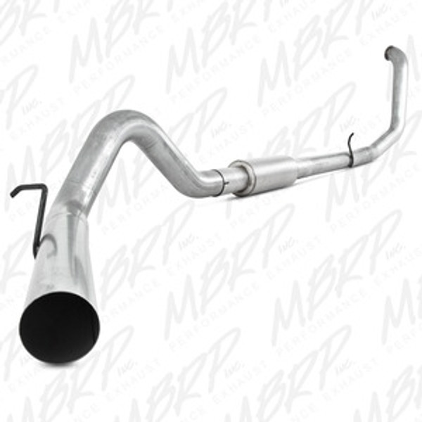 """MBRP 4"""" Turbo Back, Single Side, 1998-2003 Ford Powerstroke 7.3L, S6200P, FREE SHIPPING"""