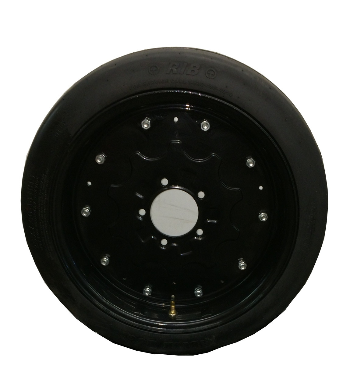 """New 25"""" Tall Batwing Shredder Foam Filled Tire on Rim - Picked up at Warehouse"""