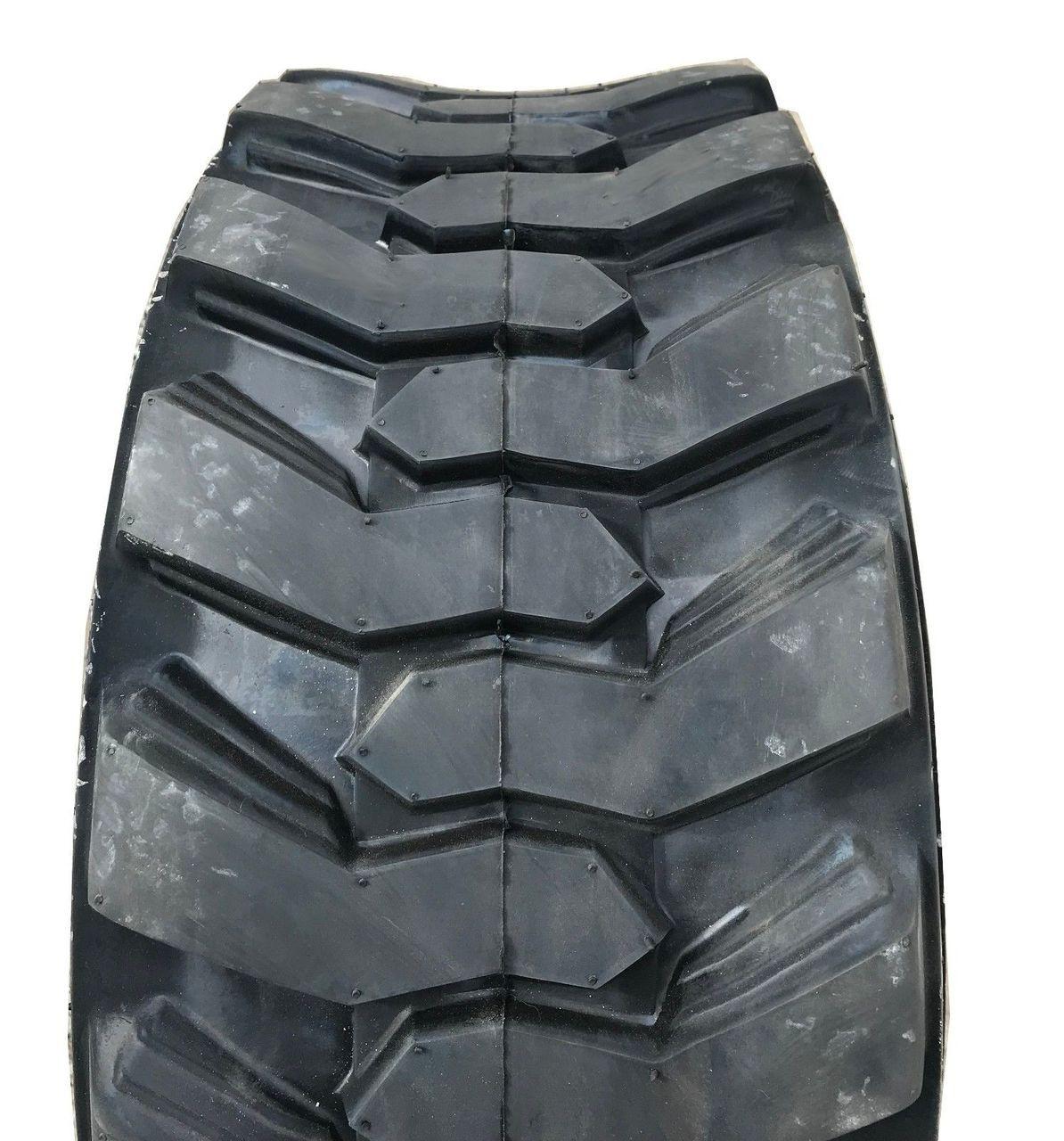 New Tire 10 16.5 Loadmaxx 10 Ply TL Skid Steer Loader 10x16.5 Rim Guard G1