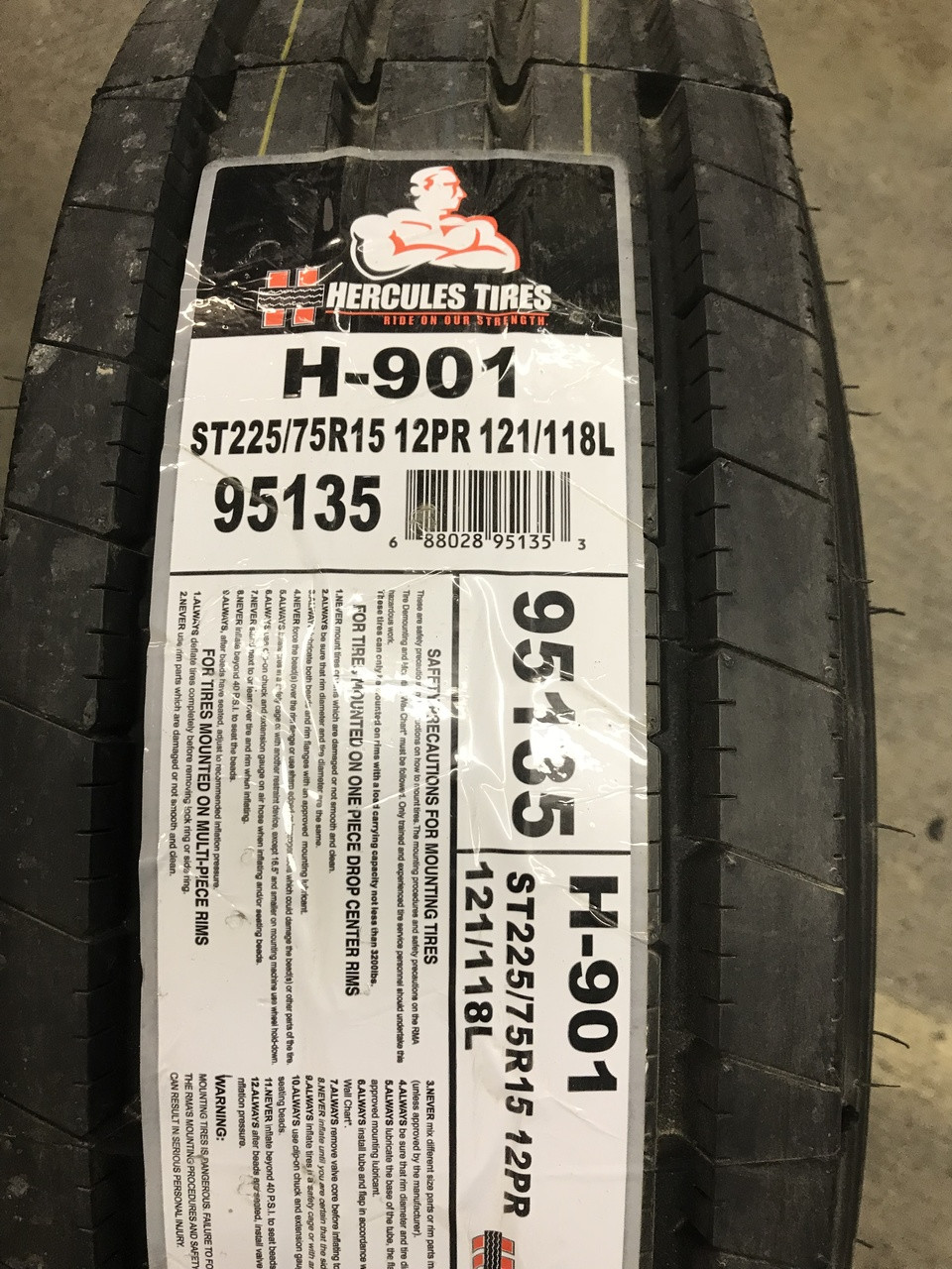 New Tire 225 75 15 Hercules H-901 All Steel ST Trailer 12 Ply ST225/75R15 118L ATDST