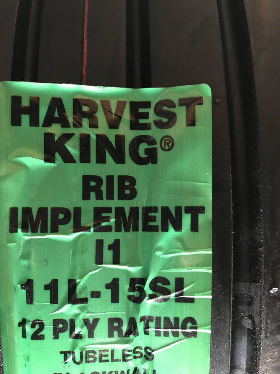 New Tire 11 L 15 Harvest King Rib Implement 12 Ply TL 11L-15