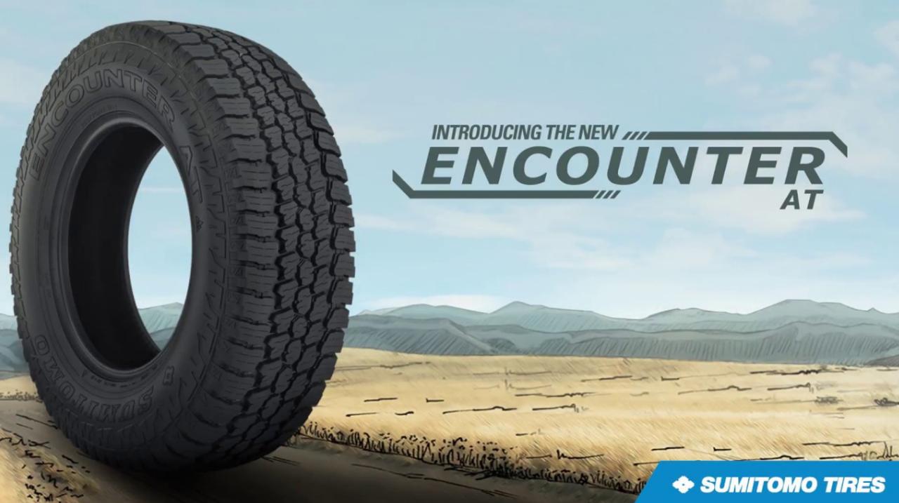 35 12.50 20 Sumitomo Encounter AT 10 Ply New Tire 60,000 Miles LT35x12.50R20