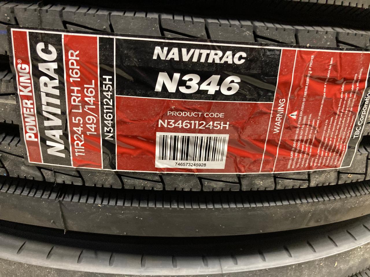 New Tire 295 75 22.5 Power King Navitrac Semi N346 Steer 14 Ply 295/75R22.5