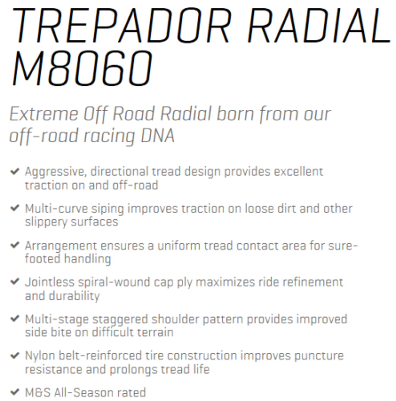 New Tire 42 14.50 17 Maxxis Trepador Bias 6 Ply M8060 Mud 42x14.50-17
