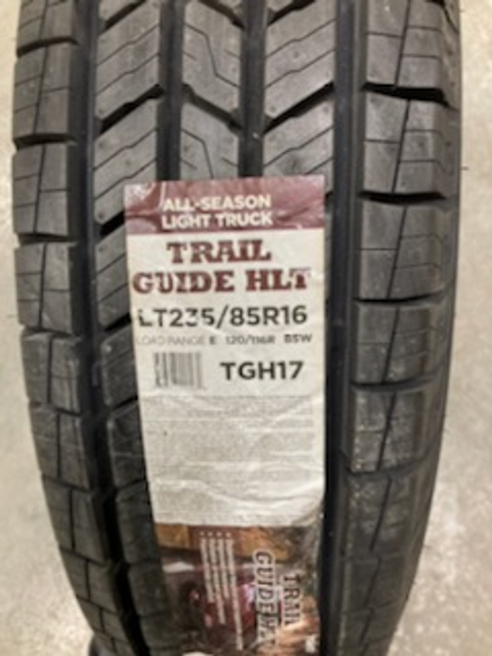 New Tire 235 85 16 Trail Guide HLT Highway 10 ply LT235/85R16