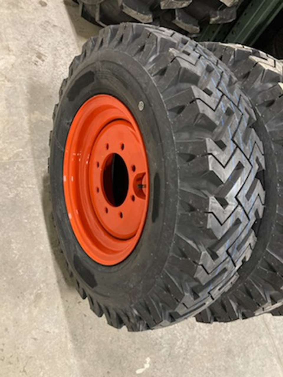 New 7.50 16 Mud & Snow 12 ply Tire & Wheel Kits for Skid Loader replaces 10-16.5 12-16.5  3195lbs