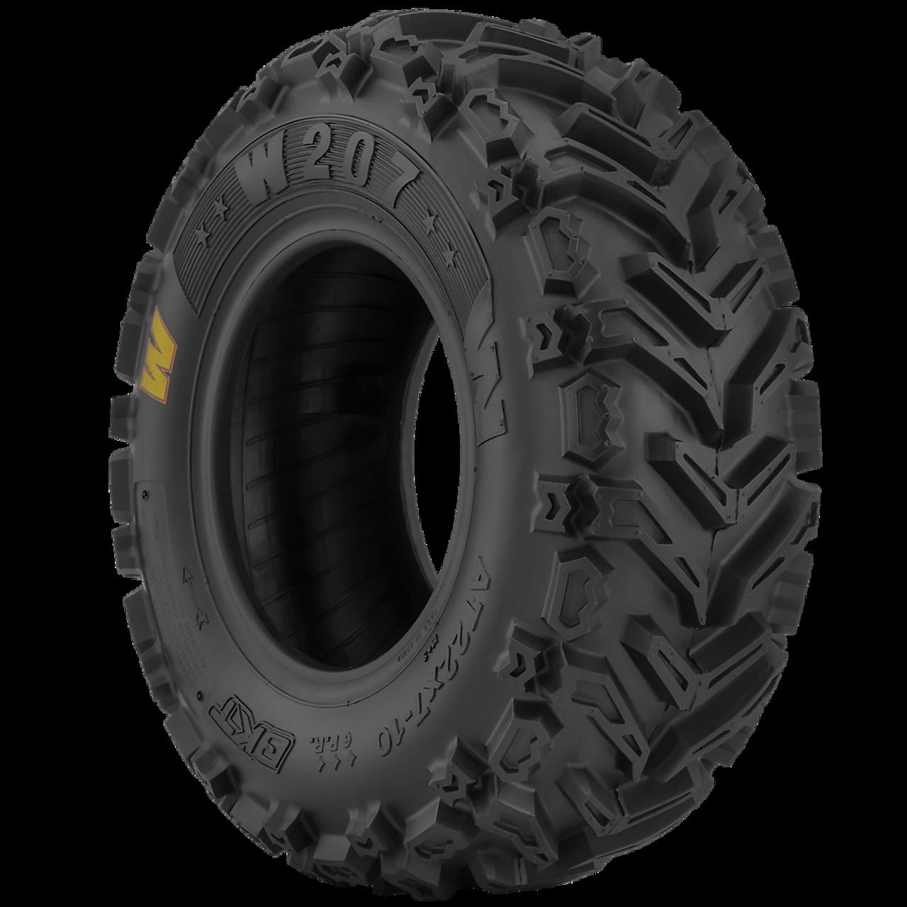 New Tire 25 10.00 12 BKT W207 6 ply ATV 25x10.00-12