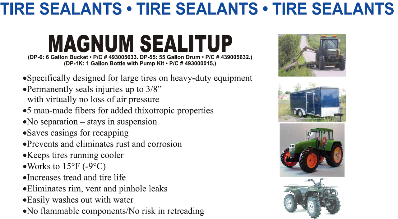 New Magnum Seal-it-Up Tire Sealant 6 Gallon pail Free Shipping