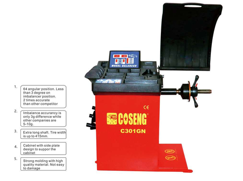 New Coseng 301 GN Basic Motor & Belt Car & Light Truck Tire Balancer