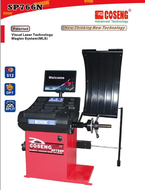 "New Coseng SP766N Tire Wheel Balancer 10-30"" Rim LCD + Keypad 11 Modes"