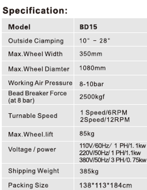 """New Coseng BD15 Tire Machine Changer 10-28"""" Wheel with 4th Generation Assist Arm"""