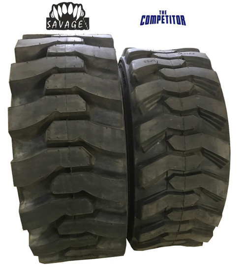 New Tire 10 16.5 Savage HD Premium Skid Steer 12 Ply DeepTread 10x16.5 PPT