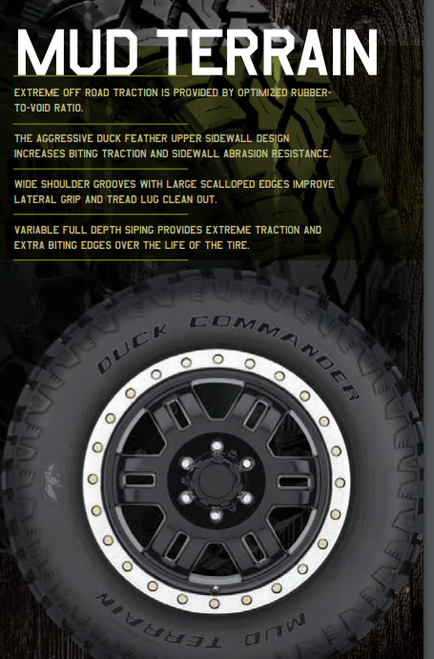 New Tire 275 65 18 Duck Commander MT Mud 10 Ply LT275/65R18