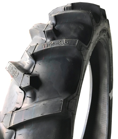 11.2 38 Harvest King R1 Assembly Tire, Tube Mounted on a Rim 6ply