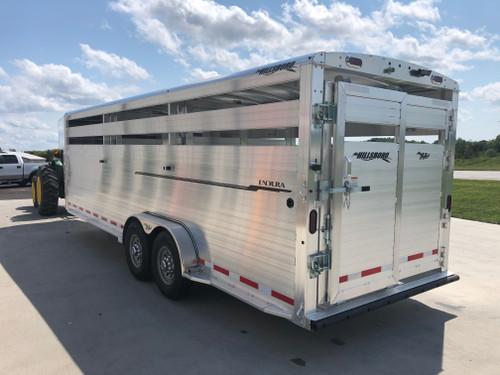 New 2021 Hillsboro Endura Livestock Aluminum Gooseneck Trailer 24ft x 7ft