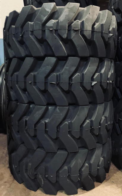 Free Shipping - 4 New K9 Solid Skid Steer R4 Aperature Tires 12x16.5 33-12-20 8 bolt Rim 8on10.75 DOB