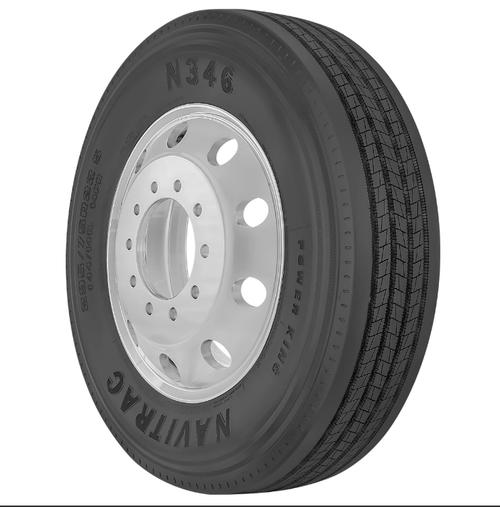 New Tire 11 R 24.5 Power King Navitrac Semi N346 Steer 16 Ply 11R24.5