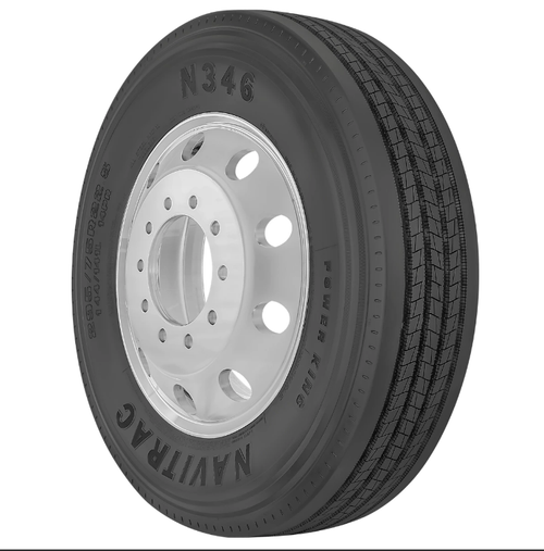 New Tire 285 75 24.5 Power King Navitrac Semi N346 Steer 14 Ply 285/75R24.5