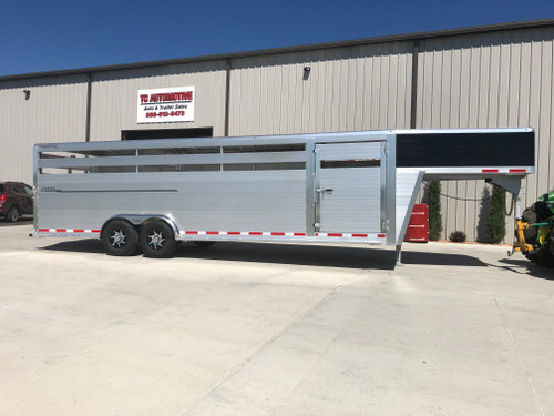 2021 Hillsboro Endura Aluminum Livestock Trailer 7.5ft x 26ft