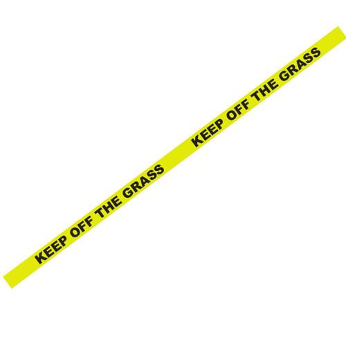 """1000' X 3"""" Keep Off Grass Yellow Safety Tape - #Bt1000"""