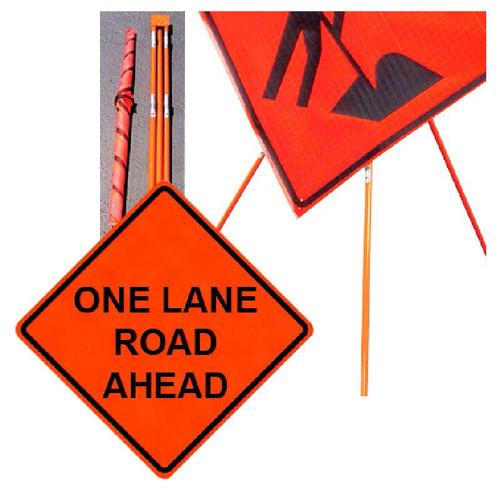 "Forester 48"" Vinyl Professional Grade Work Sign - One Lane Road"