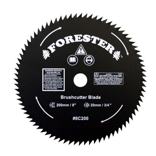 """Forester 80 Tooth Brush Cutter Blade - 8"""" Dia / 20mm Arbor"""