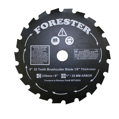 """Forester 9"""" 22 Tooth Brush Cutter Blade"""