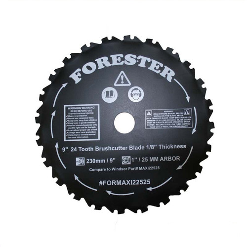 """Forester 9"""" 24 Tooth Brush Cutter Blade"""