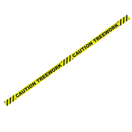 "1000' x 3"" Caution Treework Yellow Barricade Tape"