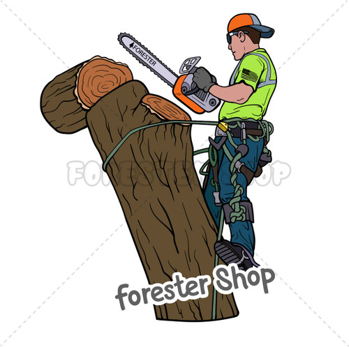 Tree Climber at Work Decal