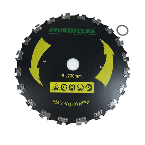 """Forester Chainsaw Tooth Brush Cutter Blade - 9"""" Diameter x 1"""" or 20mm Arbor"""