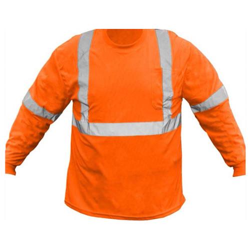 Forester Hi-Vis Class 2 Long Sleeve Safety T-Shirt - Orange