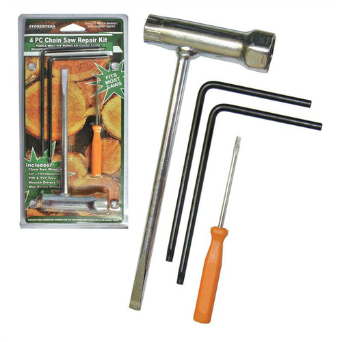 Forester 4 Piece Chainsaw Repair Kit - Chainsaw Wrench