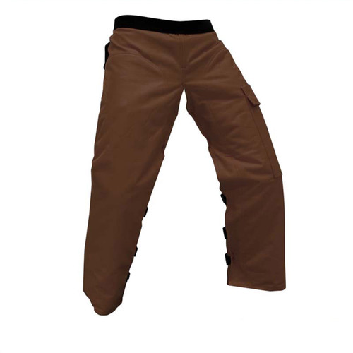 Forester Brown Apron Style Chainsaw Chaps